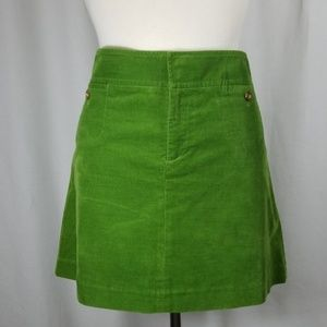 Lilly Pulitzer Size 12 Green Corduroy Pencil Skirt